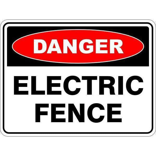 Danger -  Electric Fence  Sign