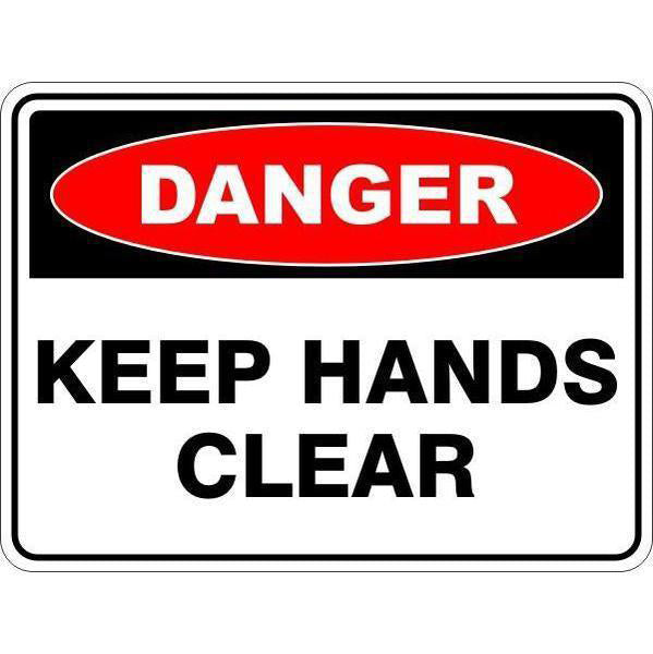 Danger -  Keep Hands Clear  Sign