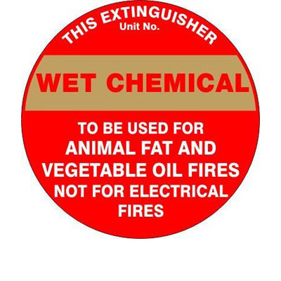 Fire Safety  Extinguisher Id Marker Chemical  Sign