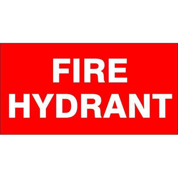 Fire Safety  Fire Hydrant  Sign