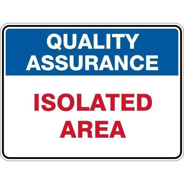Sign Isolated Area