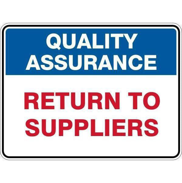 Sign Return To Suppliers