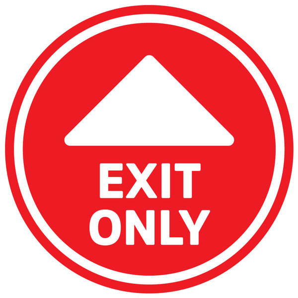 Entry and Exit Floor Stickers