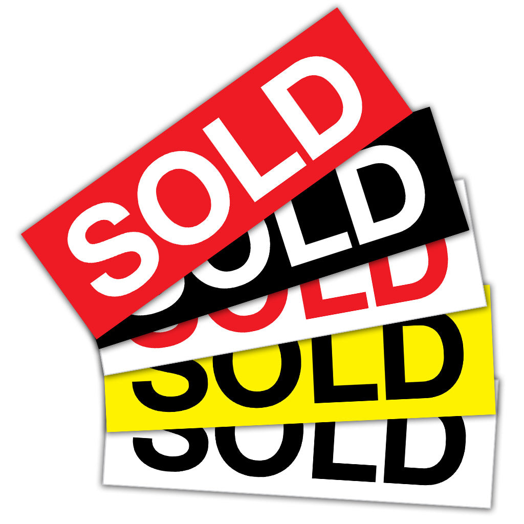 Sold Stickers Pack of 10
