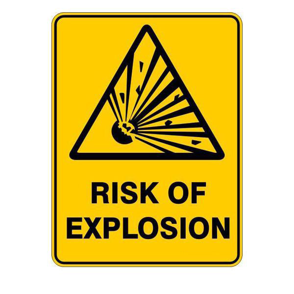 Risk Of Explosion Sign