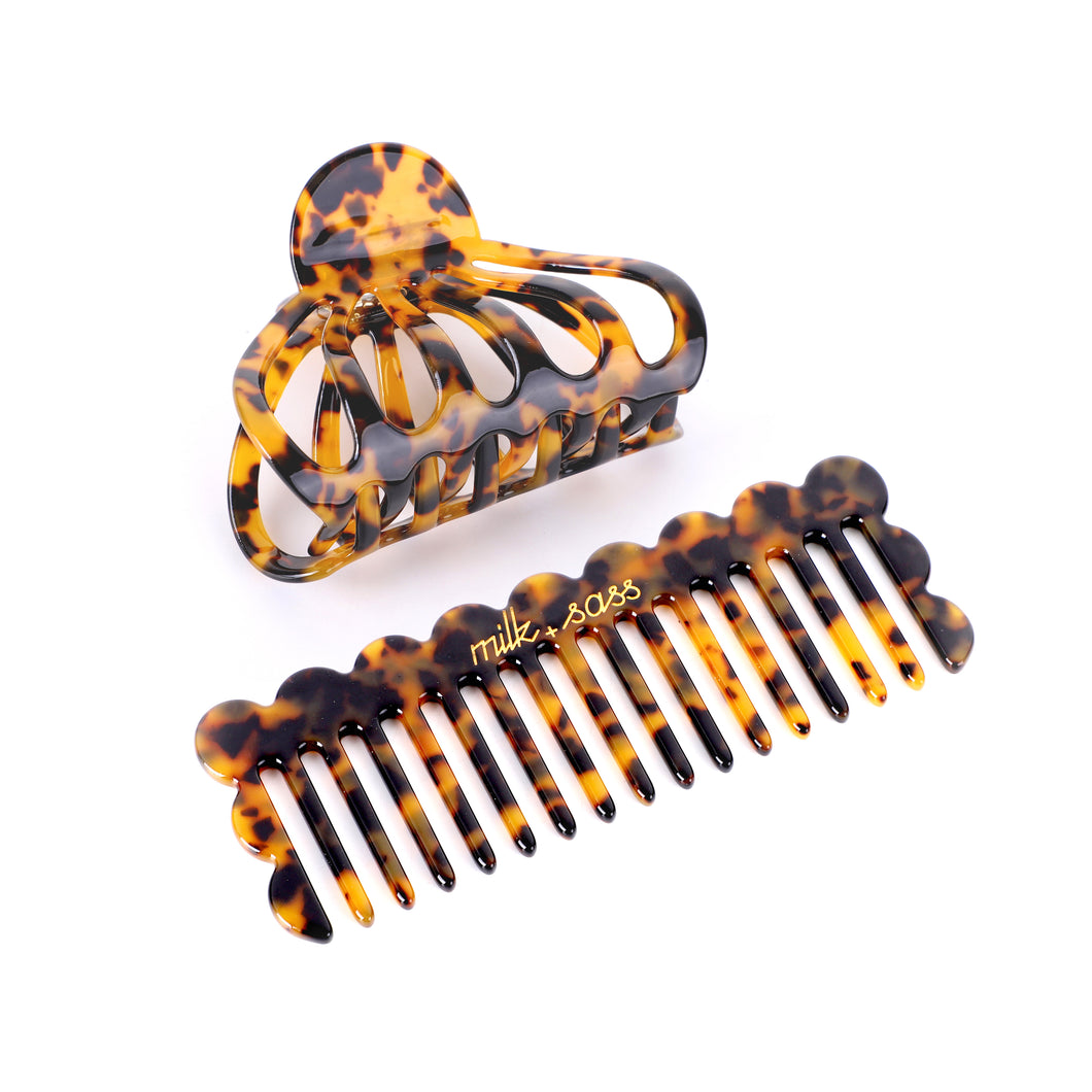 duo comb & jaw clip set