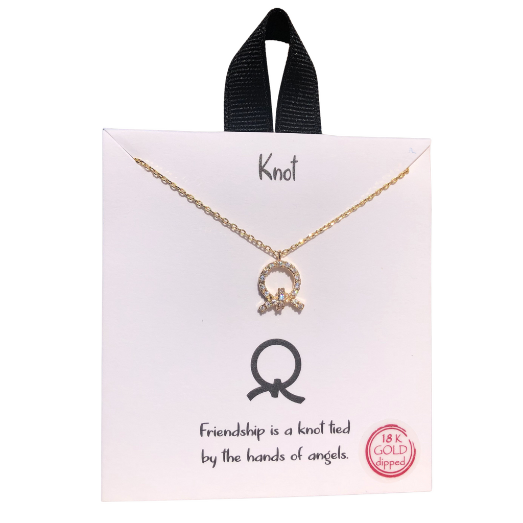 Knot Friendship Necklace (Gold)