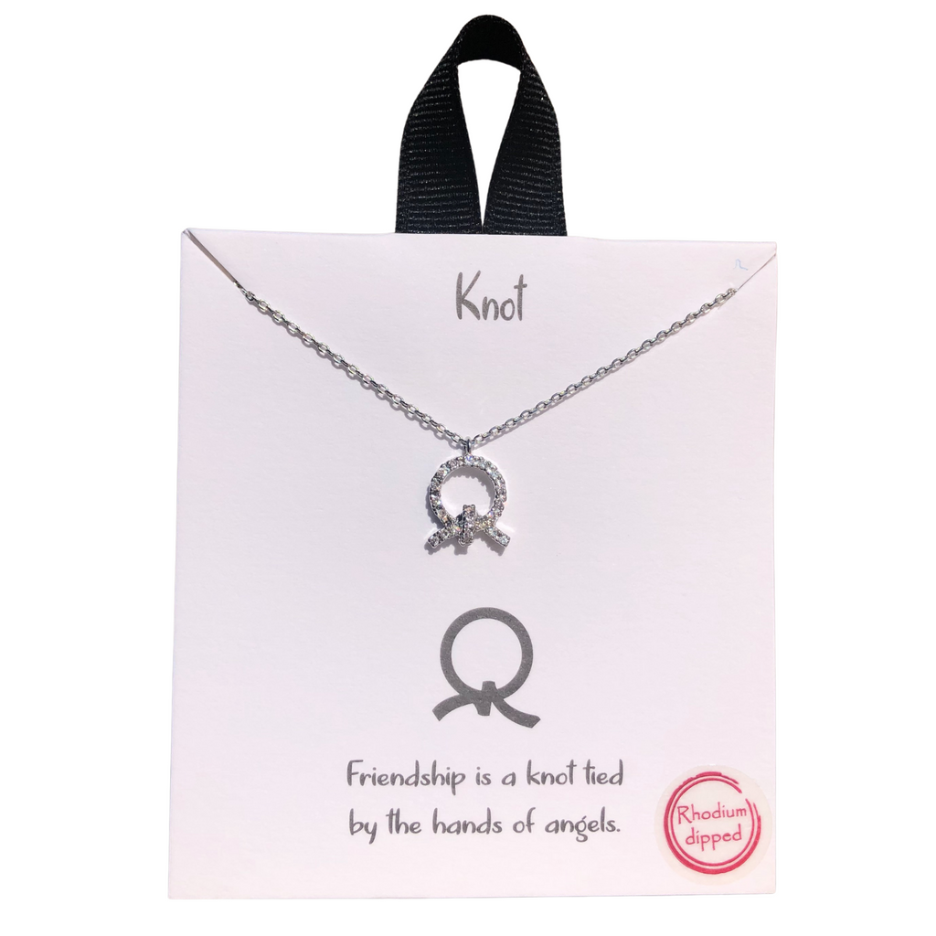 Knot Friendship Necklace (Silver)