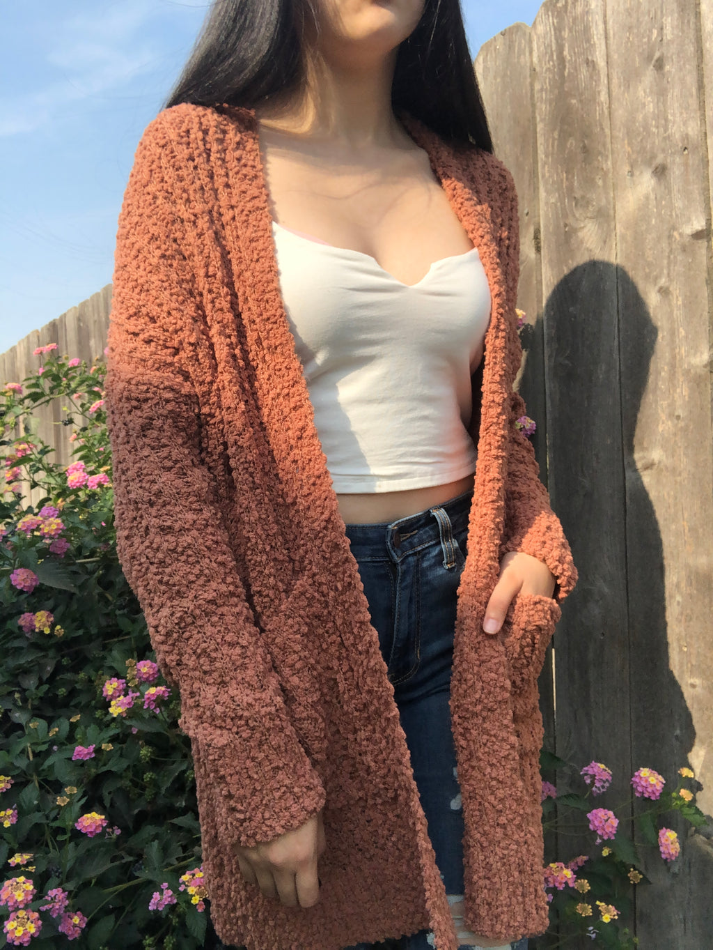 Clare Knit Cardigan (Camel)