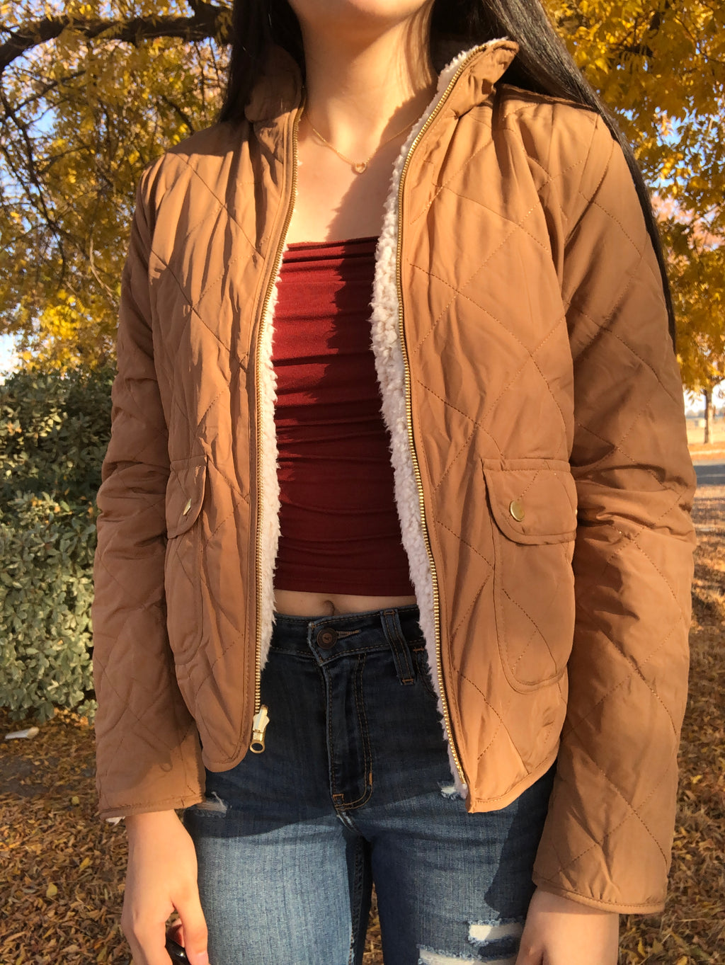 Josie Reversible Jacket (Camel)