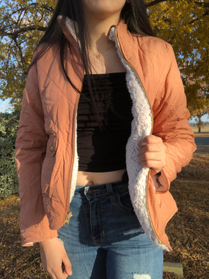 Josie Reversible Jacket (Blush)
