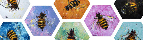 Bee Hive Art by Fer Caggiano Art