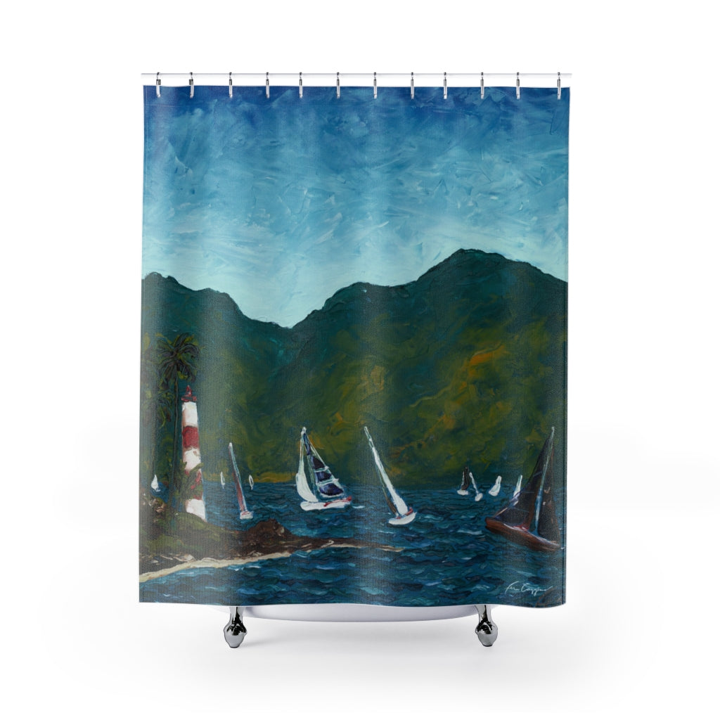 Regatta Shower Curtains-Home Decor-fercaggiano