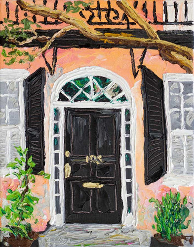 Charleston Doors - 105 Church st | Original Oil | 11x14