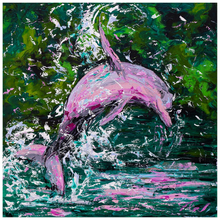 Load image into Gallery viewer, Pink Dolphin Prints-paper print-fercaggiano
