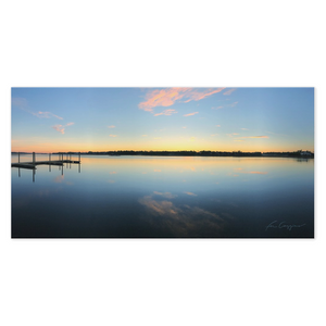 Great Start | Sunrise At The Dock-canvas print-fercaggiano