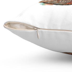 Turtle Spun Polyester Square Pillow-pillows-fercaggiano