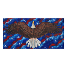 Load image into Gallery viewer, American Eagle And Flag Canvas Print-canvas print-fercaggiano