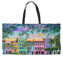Load image into Gallery viewer, Rainbow Row Weekender Totes-tote-fercaggiano