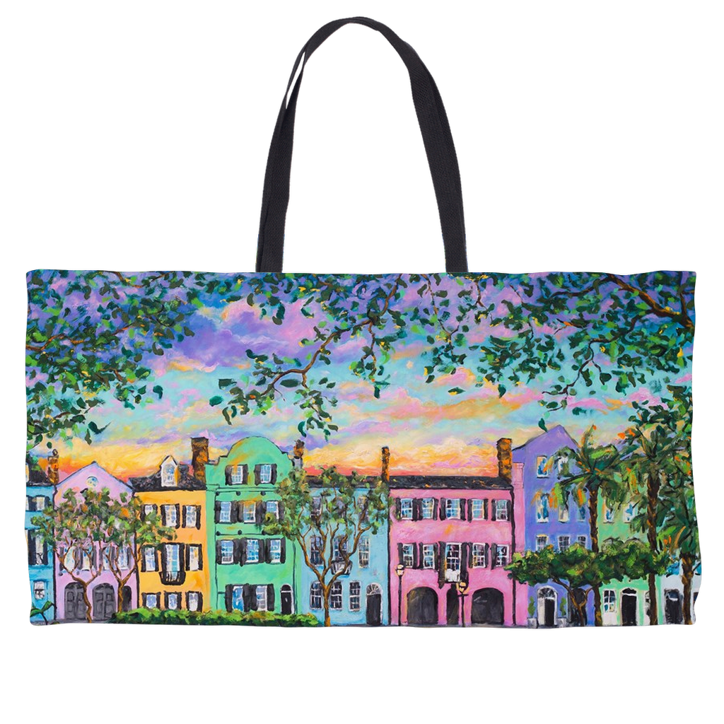 Rainbow Row Weekender Totes-tote-fercaggiano