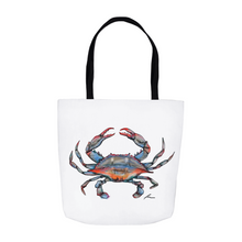 Load image into Gallery viewer, Blue Crab Tote Bag-tote-fercaggiano