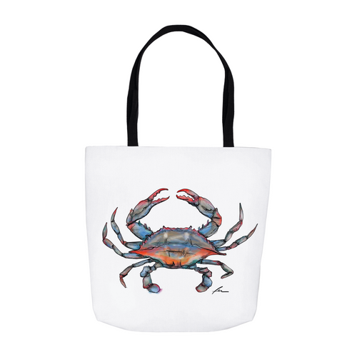 Blue Crab Tote Bag-tote-fercaggiano