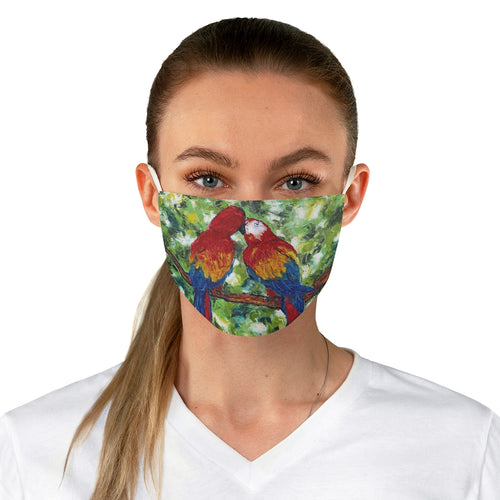 Macaw Fabric Face Mask-face mask-fercaggiano