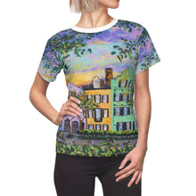 Load image into Gallery viewer, Rainbow Row, Rainbow Sky Women's AOP Cut & Sew Tee-top-fercaggiano