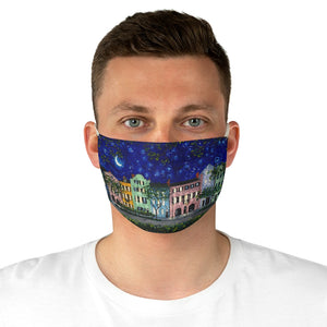 Rainbow Row at Night Fabric Face Mask-face mask-fercaggiano