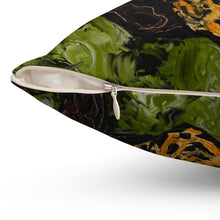 Load image into Gallery viewer, Jaguar Spun Polyester Square Pillow-pillows-fercaggiano