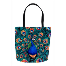 Load image into Gallery viewer, Peacock Tote Bags-tote-fercaggiano