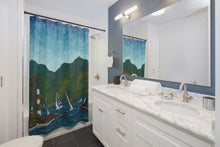 Load image into Gallery viewer, Regatta Shower Curtains-Home Decor-fercaggiano