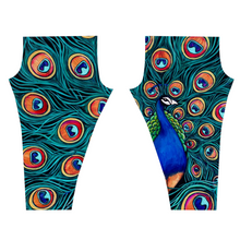 Load image into Gallery viewer, Peacock Leggings-leggings-fercaggiano
