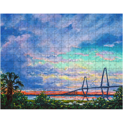 Ravenel Bridge at Sunset Puzzles-puzzle-fercaggiano