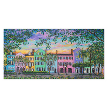 Load image into Gallery viewer, Rainbow Row, Rainbow Sky Canvas Print-canvas print-fercaggiano