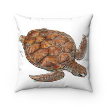 Load image into Gallery viewer, Turtle Spun Polyester Square Pillow-pillows-fercaggiano