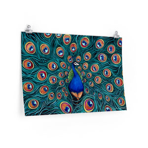 Peacock Print On Paper-Poster-fercaggiano
