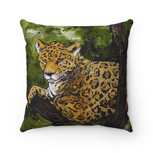 Jaguar Spun Polyester Square Pillow-pillows-fercaggiano