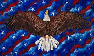 "Freedom Rising | Original Oil Painting | 60x36""-original art-fercaggiano"