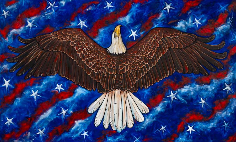 Freedom Rising | Original Oil Painting | 60x36