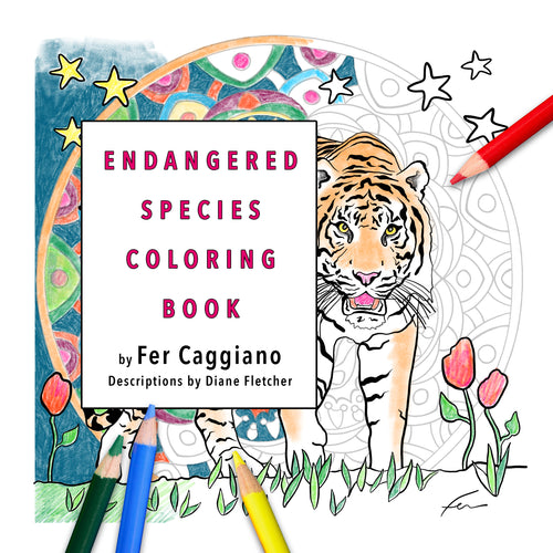 Endangered Species Coloring Book | Travel Size-book-fercaggiano