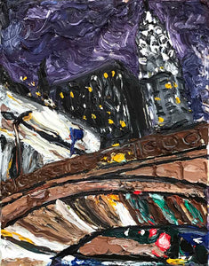 "Chrysler Building from Grand Central | Original Oil | 11x14""-original art-fercaggiano"