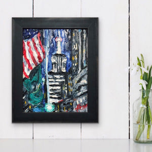 "Empire State Building | Original Oil | 11x14""-original art-fercaggiano"
