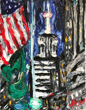 "Load image into Gallery viewer, Empire State Building | Original Oil | 11x14""-original art-fercaggiano"
