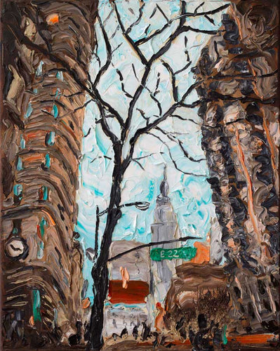 Empire State from Flat Iron | Original Oil Painting | 16x20