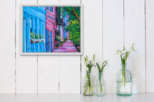 "Load image into Gallery viewer, Flowers at Rainbow Row | Original Oil Painting | 20x16""-original art-fercaggiano"