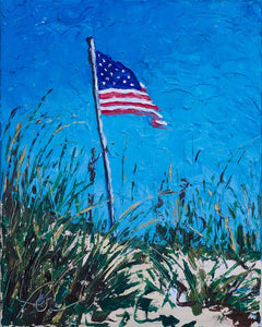 "God Bless America | Original Oil Painting | 16x20""-original art-fercaggiano"