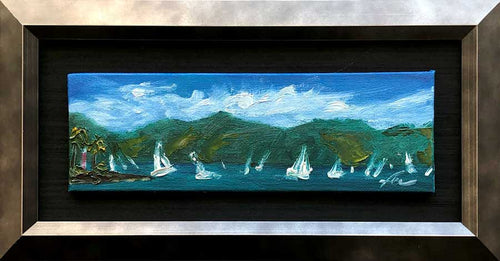 Regatta Ilhabela | Original Oil | 9x3