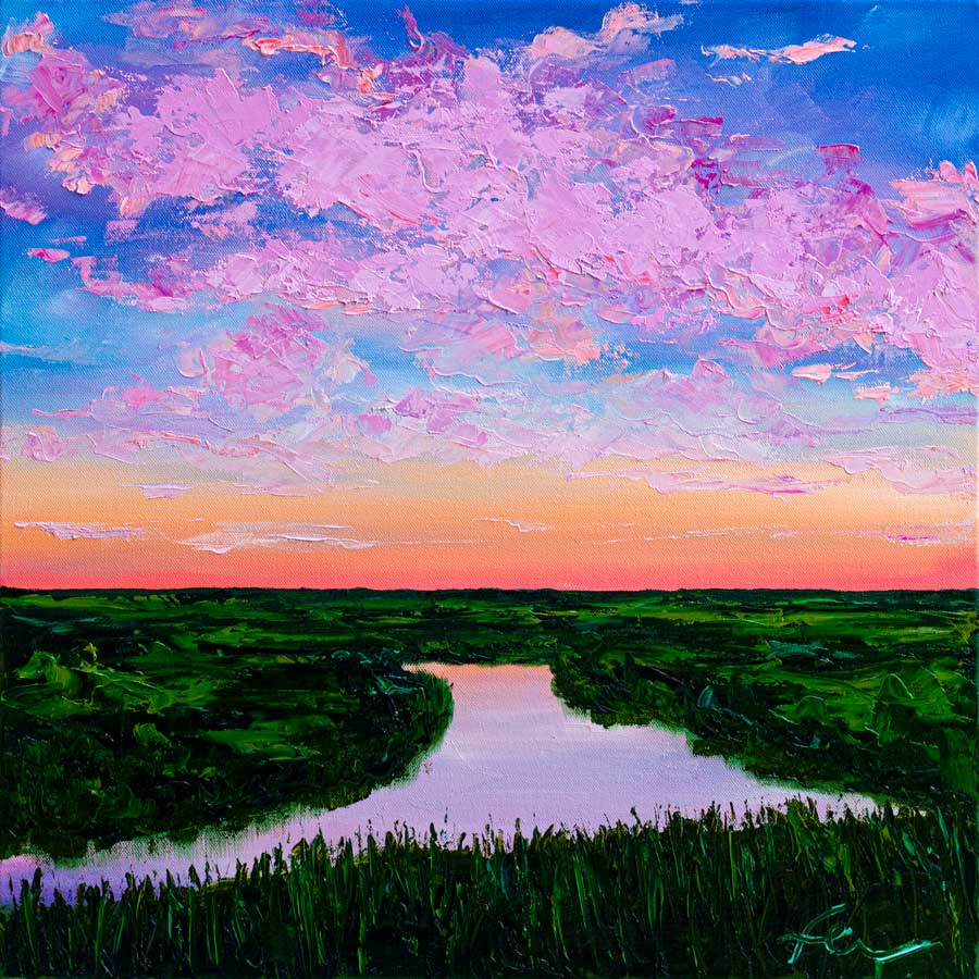 Lilac Reflections | Original Oil | 20x20