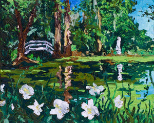 "Magnolia Plantation | Original Oil Painting | 20x16""-original art-fercaggiano"